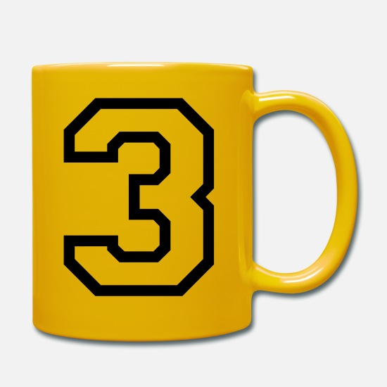 Birthday Mugs & Drinkware - THE NUMBER 3-3 - Mug sun yellow