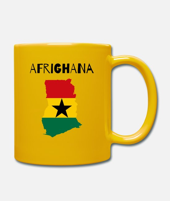 Black Power Mugs & Drinkware - GHANA - Mug sun yellow