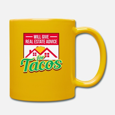 Real Estate Real Estate Taco Novelty design for real estate - Mug