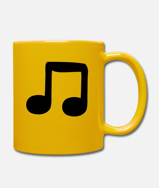 Guitar Mugs & Drinkware - quavers - Mug sun yellow