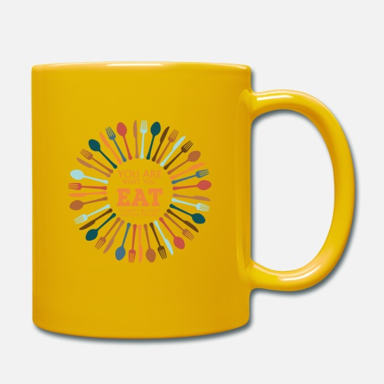 Young Mugs & Drinkware - you are what you eat - Mug sun yellow