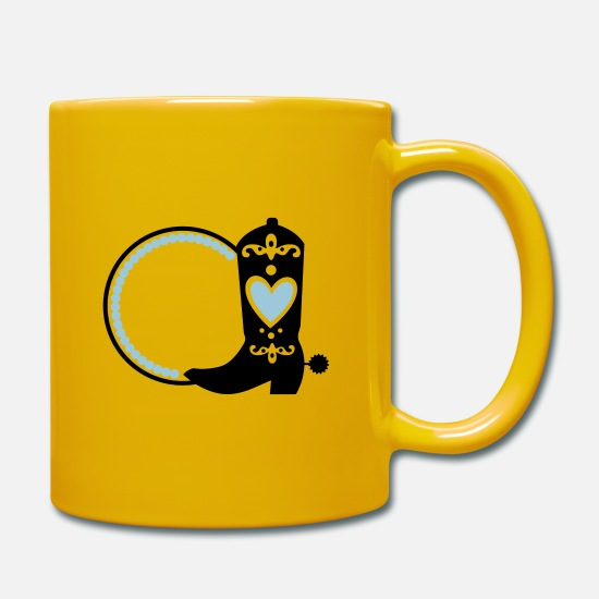 Mummy Mugs & Drinkware - southern monogram - Mug sun yellow