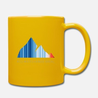 Global warming stripes - gray font - Tasse