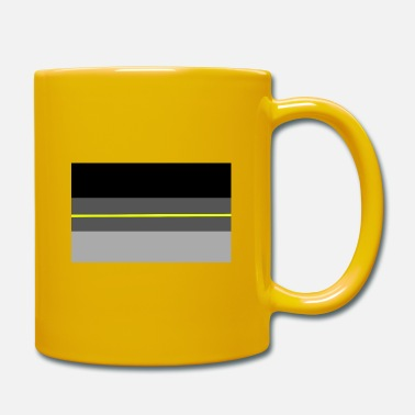Pavillon De Lallemagne Shadow Germany flag yellowline - Mug