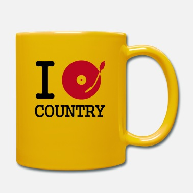 Vinyl I dj / play / listen to country - Mug
