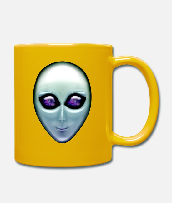 Space Mugs & Drinkware - Alien - Mug sun yellow
