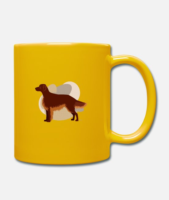 Purebred Dog Mugs & Drinkware - Dogs Collection by IxCÖ #Setter - Mug sun yellow