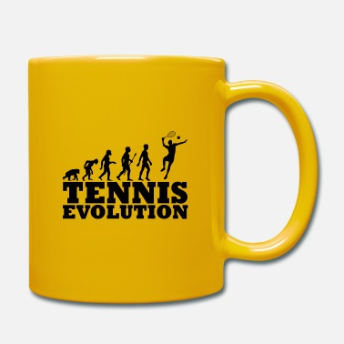 Illustration Tennis Evolution Illustration Geschenkidee schwarz - Tasse