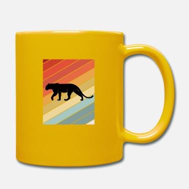 Salvaje Retro Panther Wildlife Animal Gift Idea - Taza