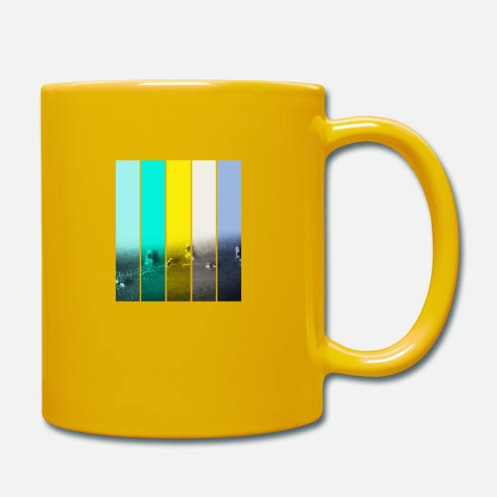 Surfer Mugs & Drinkware - Surfing Basic 19 - Mug sun yellow