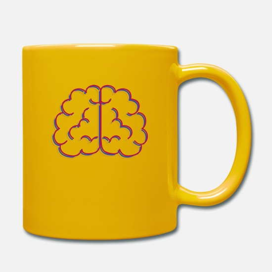 Drawing Mugs & Drinkware - Brain brain - Mug sun yellow