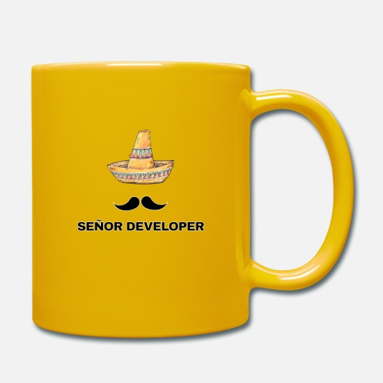 Birthday Mugs & Drinkware - Senor Developer Senior Developer Gift - Mug sun yellow