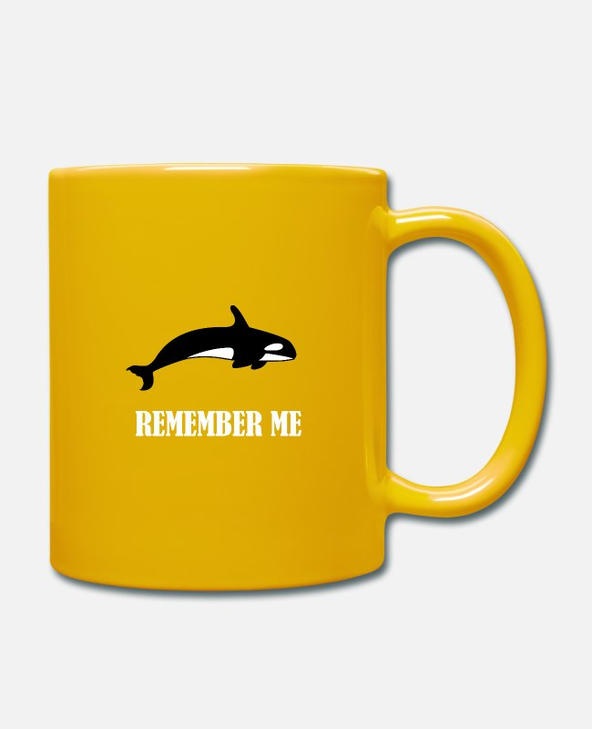 Save The Wales Mugs & Drinkware - Save the whales, climate protection, nature conservation, environment - Mug sun yellow