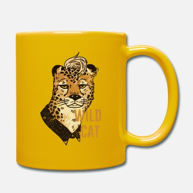 Mohawk Wild cat with mohawk - Mug