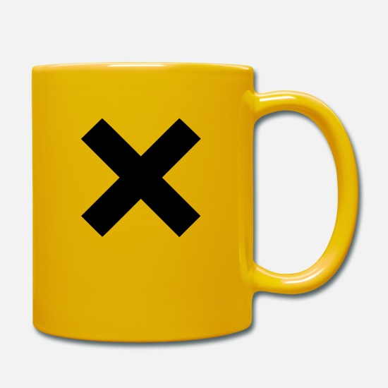 Indie Mugs & Drinkware - cross - Mug sun yellow