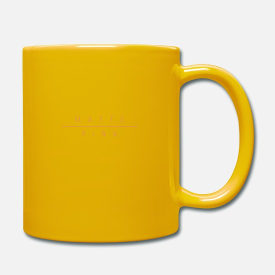 "Birthday Mugs & Drinkware - ""Matte Pink"" design - Mug sun yellow"