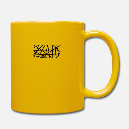 Symbol  Mugs & Drinkware - Spaghetti - Black - Mug sun yellow