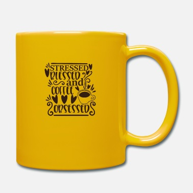 Cake stressed blessed and coffee obsessed - Mug