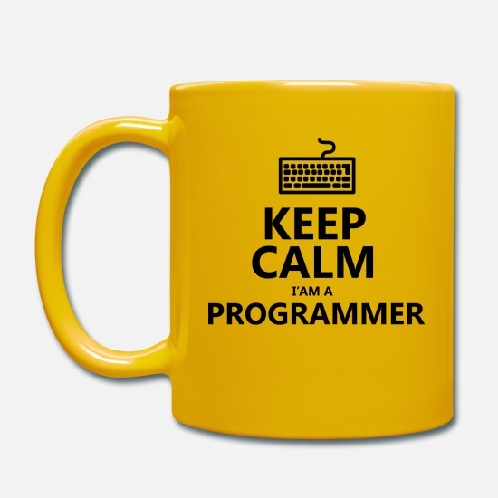 Keep Calm Tazze & Accessori - Keep calm programmer developer - Tazza giallo sole