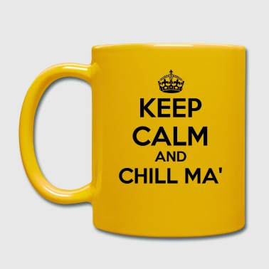 Calm The Fuck Down Proverbs - Keep Calm Chill ma '- Funny saying - Full Colour Mug