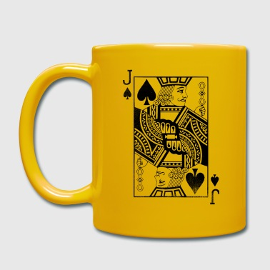 Poker Vintage Jack Card - Pikbube Blackjack Poker Card - Ensfarvet krus