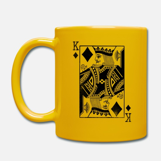 Gift Idea Mugs & Drinkware - Check king playing card - Mug sun yellow