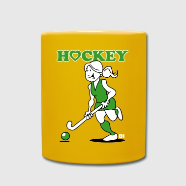 J'adore le hockey sur gazon. Une fille de hockey. - Mug uni