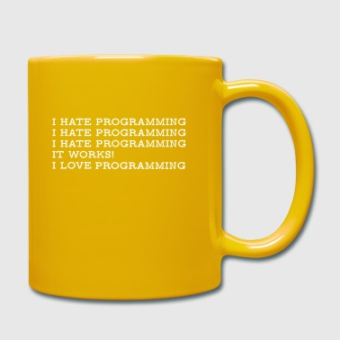 PROGRAMMING HATE LOVE4500x5400 w - Full Colour Mug