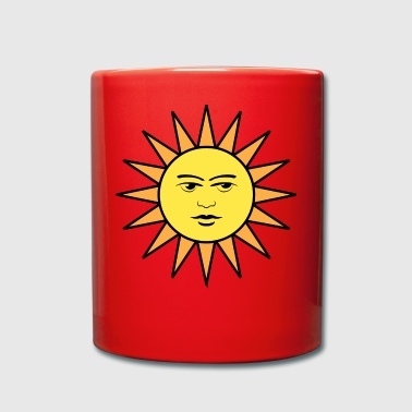 rainbow sun clouds weather rainbow sun cloud64 - Full Colour Mug