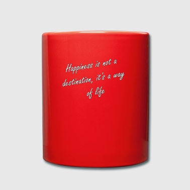 happiness - Tasse einfarbig