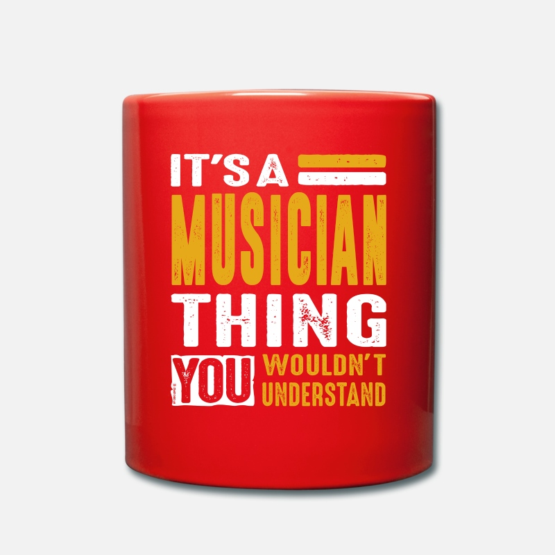 Musician Mugs & Drinkware - It's a Musician Thing - Colour Mug red