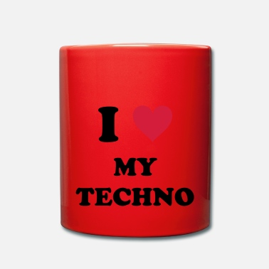 Techno I LOVE MY TECHNO - Full Colour Mug