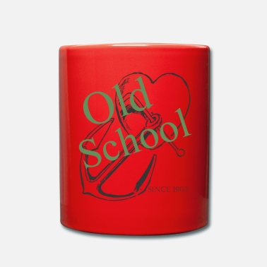 Old School Old School - Taza de un color