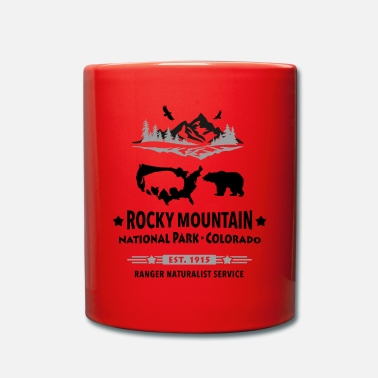 Rocky Mountain National Park Mountain Bison Grizzly Bear - Mug
