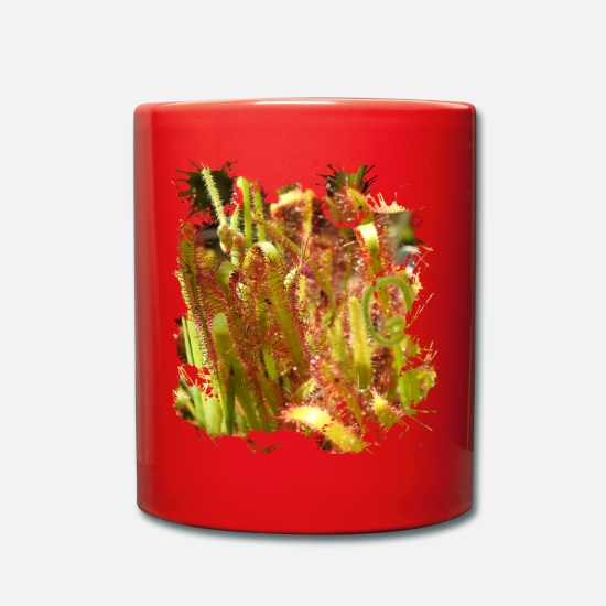 Annoy Mugs & Drinkware - Sundew leaves populated with adhesive glands - Mug red