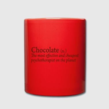 Chocolate is the best therapy - Full Colour Mug