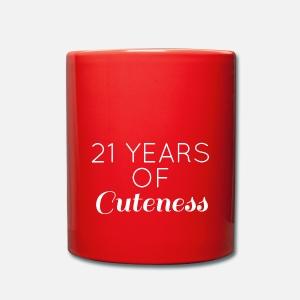 21 Birthday Years Of Cuteness Water Bottle