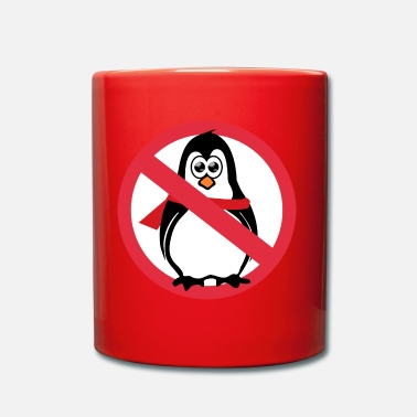 Prohibition Penguin prohibition sign - Full Colour Mug