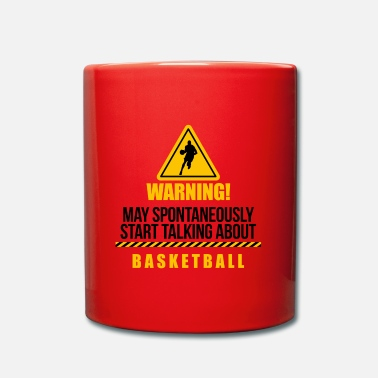 Teamsport Basketball Warning Teamsport Caution Attention - Mug