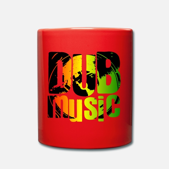 Rastafari Mugs & Drinkware - Dub music - Mug red