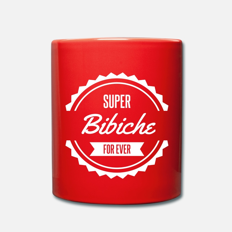 Surnom Mugs et gourdes - super bibiche for ever - Mug rouge