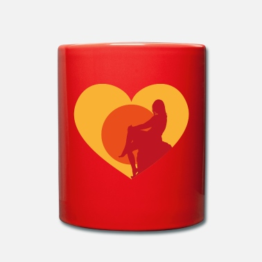 Beach LOVE SUNSETS - Full Colour Mug