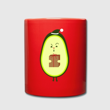 Avocado with Christmas hat - Full Colour Mug
