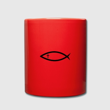 Christianity fish with cross (Itchys) - Full Colour Mug