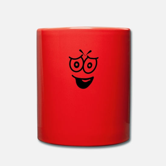 Sentiment Mugs et récipients - Expression du visage - Mug rouge