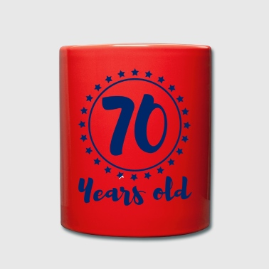 70s 70. Birthday: 70 Years Old - Full Colour Mug