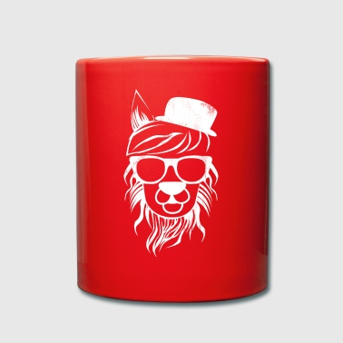Lama - Cool - Hipster - divertida - regalo - Taza de un color