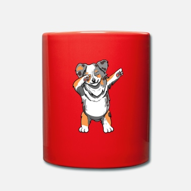 German Shepherd Australian Shepherd Dog Dab Dance Dabbing Gift - Full Colour Mug