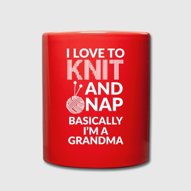 Knitting Knitting - knitting - knitting needles - grandma - Full Colour Mug