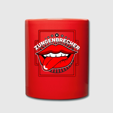 Tongue Tongue twister mouth tongue - Full Colour Mug